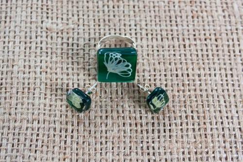 Set bijuterii sticla fuzionata